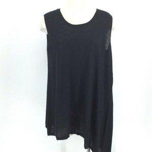 DG2 Diane Gilman Top S Black Cotton Linen …